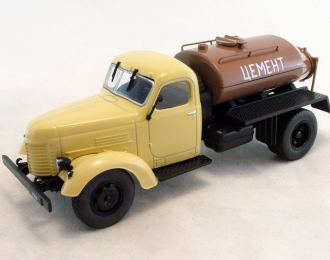 КАЗ 601В Цементовоз, Автомобиль на службе 73, бежевый