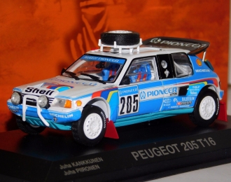 PEUGEOT 205 T16 Paris Dakar, blue
