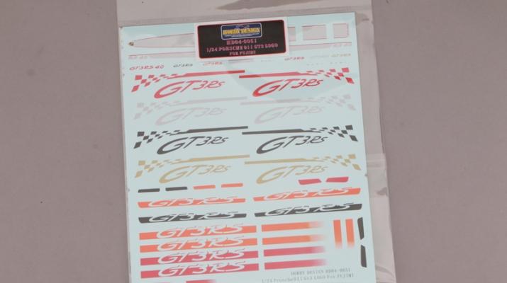 Декаль PORSCHE 911 GT3 LOGO для моделей Fujimi