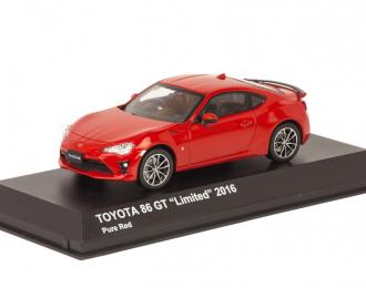 Toyota GT86 Coupe Facelift 2017 красный