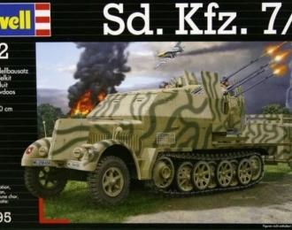 Сборная модель Немецкая ЗСУ на шасси полугусеничного тягача Sd.Kfz 7/1