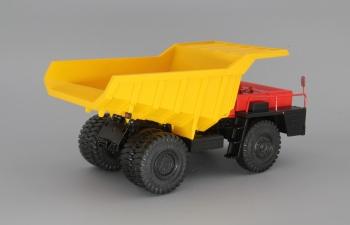 БелАЗ-540 самосвал, красный / желтый