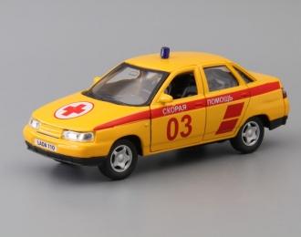 Волжский автомобиль 2110 Скорая Помощь, желтый