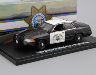 "FORD Crown Victoria Police Interceptor ""California Highway Patrol"" (2008), black / white"