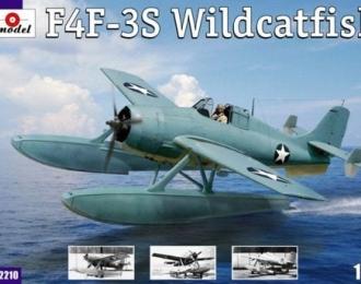 Сборная модель Американский истребитель-бомбардировщик Grumman F4F-3S Wildcatfish