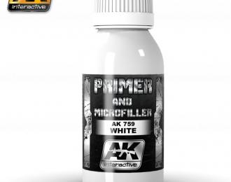WHITE PRIMER AND MICROFILLER 100ml (белый грунт)
