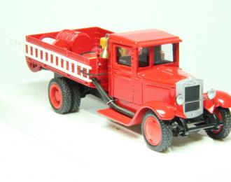 ЗИS-5 ПМЗ-5 пожарный автомобиль, красный