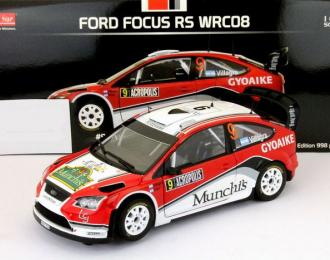 FORD Focus RS WRC08 #9 F.Villagra / J.Diaz Rally Acropolis (2009), red / white