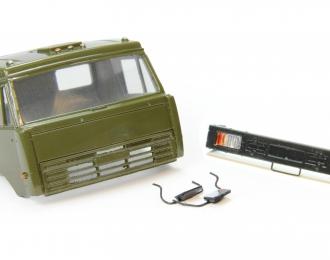 Спальная кабина для КАМАЗ (Евро-2, плоский бампер), хаки