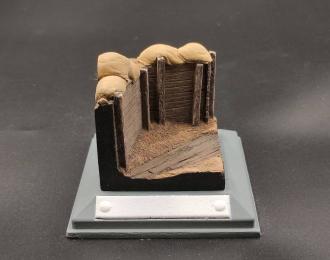 Фрагмент окопа с мешками (неокрашенный)