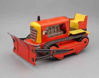 Игрушка Трактор, красный / желтый