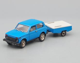 """ВАЗ 2121 НИВА с прицепом """"Скиф"""", синий"""