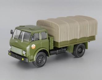 МАЗ-500В бортовой с тентом, зеленый