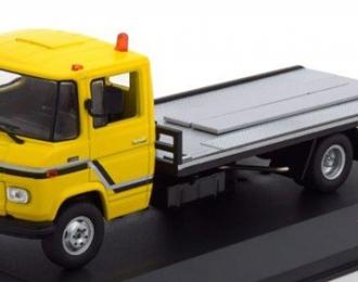 MERCEDES-BENZ L608D wrecker (1980), yellow