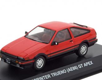 Toyota Sprinter Trueno (AE86) красный с черным