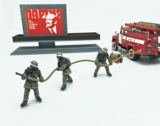 Комплект фигурок Пожарные СССР (военная пожарная команда)