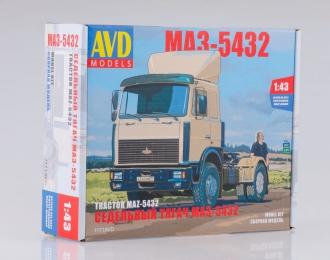 Сборная модель МАЗ-5432 седельный тягач поздний