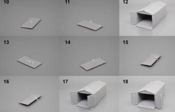 (KIT) Гараж Ижорский 6-ти секционный (набор для сборки)