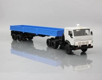 КАМАЗ 5410 с полуприцепом, серый / синий