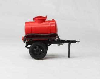 Прицеп-бочка красная для воды (с шлангом)