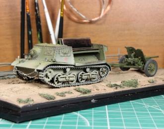Тягач Комсомолец и противотанковая пушка 53-К