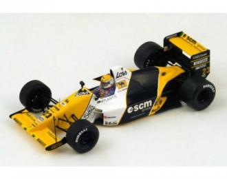 MINARDI M189 23 5th British GP 1989 Pierluigi Martini, yellow