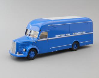 MERCEDES-BENZ O 3500 Bus Renntransporter, blue