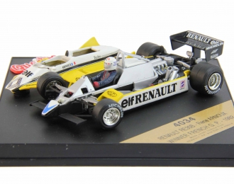 RENAULT RE30B Rene Arnoux Winner French G. P. (1982), yellow / white