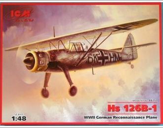 Сборная модель HS-126B, германский самолет-разведчик