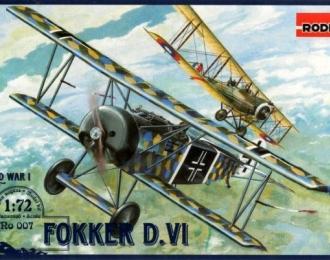Сборная модель Немецкий истребитель Fokker  D.VI