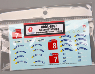 1/24 Toyota TS050 Supplement Decal For T (24349)