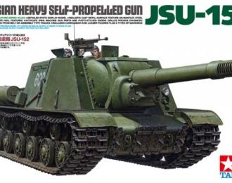 Сборная модель Советское тяжелое самоходное противотанковое орудие ИСУ-152 (Зверобой), с двумя фигурами, набором фототравления и двумя типами траков