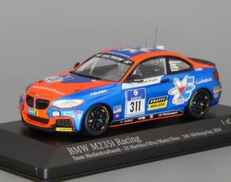 BMW M235i #311 Racing Team Medienkraftwerk Di Martino Olivo Maier Hess 24h Nurburgring (2014), blue