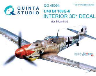 3D Декаль интерьера кабины Bf 109G-6 (для модели Eduard)