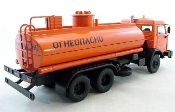 КАМАЗ 5320 Перевозка светлых нефтепродуктов, Автомобиль на службе 69, оранжевый