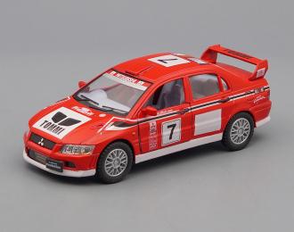 MITSUBISHI Lancer Evolution VII WRC #7, red