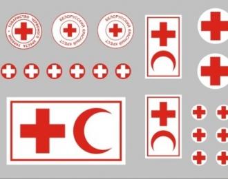 Декаль с медицинскими символами, тип 2, 40х115 мм