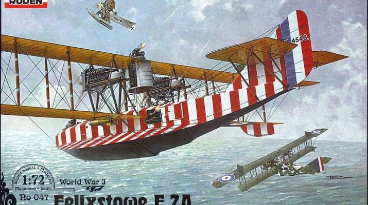 Сборная модель Британская летающая лодка Felixstowe F.2A