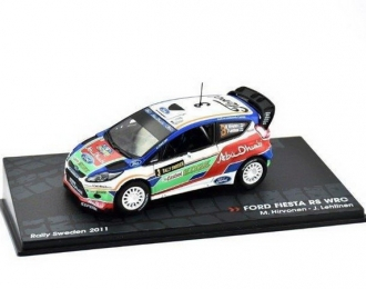 FORD Fiesta RS WRC #3 M. Hirvonen - J. Lehtinen Rally Sweden (2011), white / blue / green