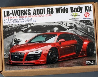 Конверсионный набор LB-Works AUDI R8 Wide Body Kit для моделей Kysho R8 MODELS (Resin+PE+Decals)