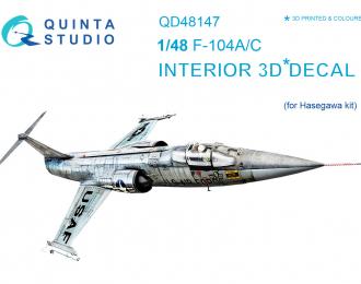 3D Декаль интерьера кабины F-104A/C (для модели Hasegawa)