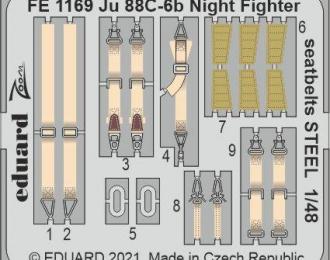 Фототравление для Ju 88C-6b Night Fighter, ремни безопасности СТАЛЬНЫЕ