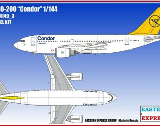 Сборная модель Авиалайнер А310-200 Condor