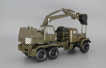 КрАЗ-255Б1 ЭОВ-4421 Экскаватор, хаки