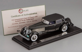 DUESENBERG SJ Town Car Chassis 2405 by Rollson for Mr. Rudolf Bauer fully closed (1937), black