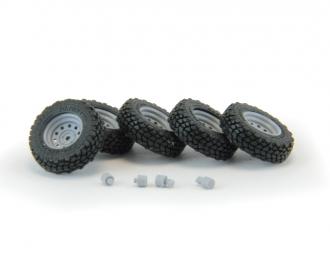 Набор колес для внедорожников (диск Off-Road Wheels с круглыми отверстиями, резина Yokohama Geolandar)