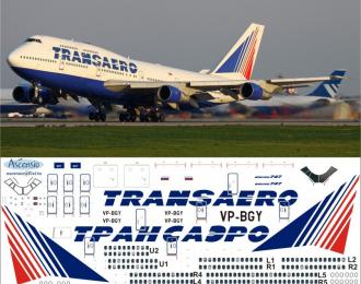 Декаль на самолет боенг 747-300 (Трансэро)