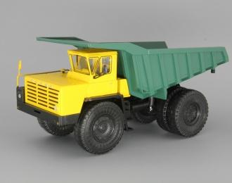БелАЗ-548А самосвал, желтый / зеленый