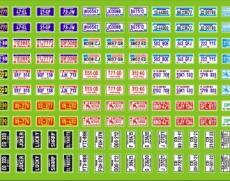 Набор декалей Номера Американские, 190х80