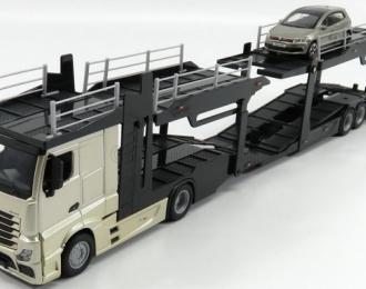 MERCEDES-BENZ Actros 2545 с прицепом-автовозом 2017 и VOLKSWAGEN Polo V GTI Silver